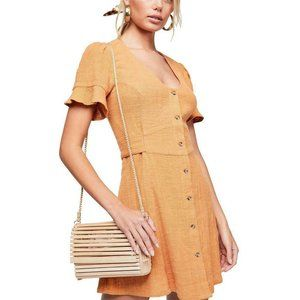 Free People Life Is Sweeter Buttondown Dress M US